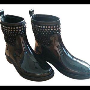 LIKE NEW! Micheal KORS ankle boots w rhinestones